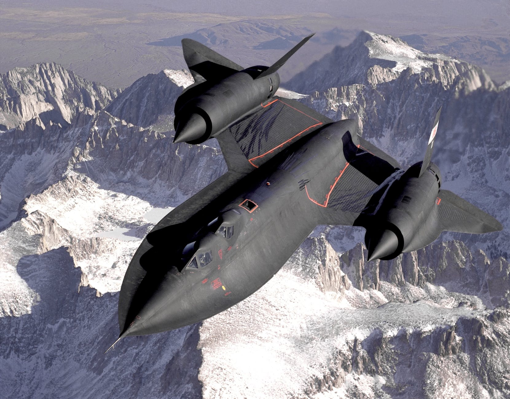 black jetplane flying on the sky